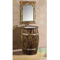 Artistic Hotel Vanity Combo Bathroom Sink Cabinet With Wall Mirror Manufactures