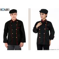 Wholesale Professional Double Breasted Chef Jacket Black Long Sleeve For Men from china suppliers