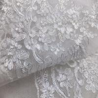 Embroidery lace fabric bridal french lace fabric for Wedding dress lace fabric