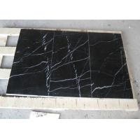 Wholesale Black Marquina Marble Floor And Wall Tiles , Nero Marquina Marble Tiles Non Slip from china suppliers
