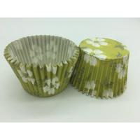 Wholesale Green White Flower Greaseproof Cupcake Liners Disposable Mini Baking Tools Cake Decoration from china suppliers