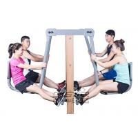 Wholesale outdoor fitness equipment park wood outdoor leg press machine from china suppliers