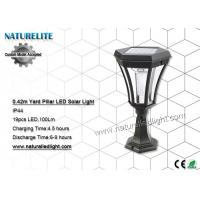 Wholesale Yard Pillar Solar Led Lights , Solar Powered Led Lights  Flat Hexagonal Head from china suppliers