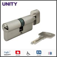 Wholesale Flat Key Security Mortice Lock Cylinder EN1303 Key and Turn Satin Chrome Fire Test from china suppliers
