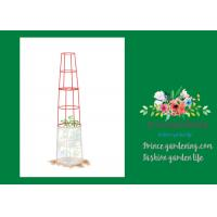 Large Tall Tomato Plant Stakes , Red Heavy Duty Tomato Cages