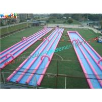 Wholesale 400m Three Lane Splash Outdoor Inflatable Water Slides  for Crazy Custom from china suppliers