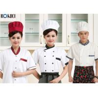 Wholesale Contrast Color Men / Womens Chef Uniforms Short Sleeve For Kitchen from china suppliers