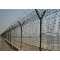 Wholesale Barbed Welded Wire Mesh Fence Panels , Size Customized Y Post Fence For Industry from china suppliers