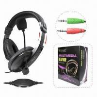 Buy cheap Multimedia Wired Headphones with Elegant and Unique Design, Available in Various from wholesalers