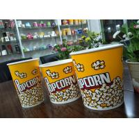 China Food Grade 64oz 85oz 130oz Paper Popcorn Buckets Generic Yellow on sale