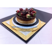 Wholesale Food Grade Bakery Packing Floral Foil Gold /Silver Cake Boards  for Cake Tray/Salmons Packages from china suppliers