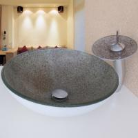 Wholesale colorful glass wash basin price/glass sink/glass washbasin from china suppliers