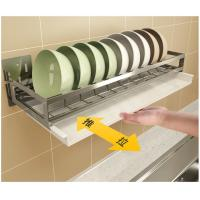 Wholesale Wall Mounted Kitchen Tray Rack 5cm Guardrail With Drain Board Dish Drainer from china suppliers