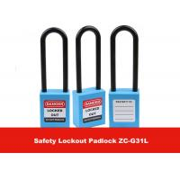 Wholesale 76mm Long Shackle Blue Nylon Safety Padlock Lockout with Keyed Alike from china suppliers