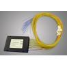 9/125 um SMF-28e Type PLC Optical Fiber Splitter With ABS BOX (0.9, 2.0, 3.0mm) Manufactures