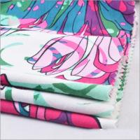Wholesale Rusha Textile Single Jersey Knitted 95% Viscose 5% Spandex Floral Printed Spun Rayon Fabric for Women Clothes from china suppliers
