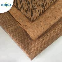 Wholesale Wooden Pu Pvc Leather Fabric , Etsy Cork Fabric Abrasion Resistant Easy Cleaning from china suppliers