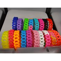Wholesale 19mm width wholesale twist braided silicone bracelet, Personalized silicone bracelet from china suppliers