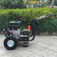 China 9hp 4 Stroke plunger pump gasoline high pressure washer / hot , cold water pressure washer on sale