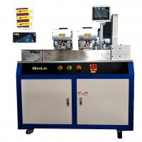 China VIP ID card printing single/double side PVC Card Cutting Machine  for standard card 3tags card on sale