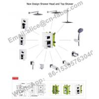 Wholesale chrome finish concealed wall mounted square rain shower faucet set hand shower,Water saving Concealed shower faucet from china suppliers