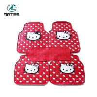 Wholesale Left And Right Hand Driving Universal Car Floor Mats Hello Kitty Cartoon Pattern from china suppliers
