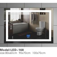 Wholesale Big / Small Square LED Bathroom Mirror With Lights And Demister Motion Sensor from china suppliers