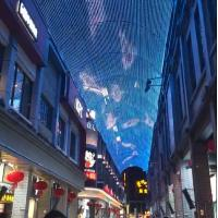China Outdoor led mesh video waterproof advertisement display led net screen on sale