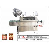 Wholesale Sauces Jam Glass Bottle Capping Machine , Twist Off Cap Vacuum Lug Capping Machine from china suppliers