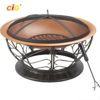 Wholesale Black Brazier Outdoor Furnitures , 30 Inch Steel Brazier Bbq Grill from china suppliers