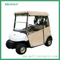 Wholesale Door Works Golf Cart Enclosures With Rear Seat White Dual U - Shaped Zippers from china suppliers