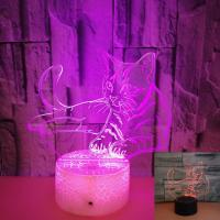 China OEM animal logo Colorful 3D Volt Cat Light 3D Illusion LED Light Acrylic Visual Stereo Light Touch USB Table Lamp on sale