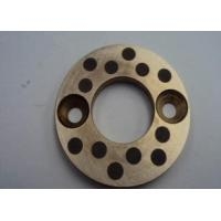 China Casting Copper bearing thrust washer With Solid Lubricant Plugs on sale