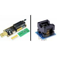 China CH341A 24 25 series EEPROM Flash Bios USB programmer +SOIC8 150 mil adapter on sale