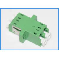 Wholesale Duplex LC to LC fiber optic cable coupler Green Color PC Plastic Housing from china suppliers