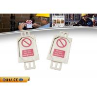 Wholesale 7g PVC Lockout Tagout Tags, 38.58 * 4.55 * 81.74 Mm Lockout Tagout from china suppliers