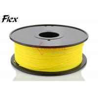 Wholesale High elasticity 3mm TPE flexible 3D printer filament Yellow color ROHS from china suppliers