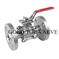 Buy cheap JIS 10k Flange 2PC Stainless Steel Floating Ball Valve from wholesalers