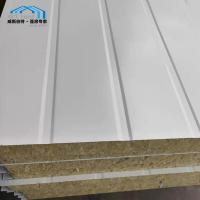 China Light Weight Commercial Tent Parts Rock - Wool Sandwich Panel Wall on sale
