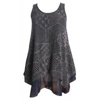 Cut Loose Sleeveless Lace Chiffon Top Casual Ladies Clothing for