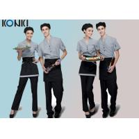Wholesale Trendy Restaurant Uniforms For Restaurant Staff / V Neck Shirt And Pants from china suppliers
