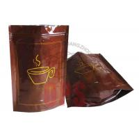 China Small Resealable Plastic Zipper Bags Packaging , Coffee Stand Up Pouch on sale