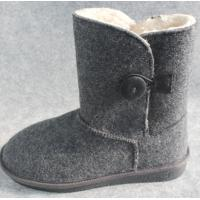 Wholesale Indoor Warm Rolking 100% Wool Felt Shoes and Boots for Women and Men from china suppliers