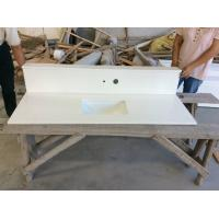 Wholesale White Kitchen Solid Quartz Countertops Worktops , Solid Surface Bathroom Countertops from china suppliers
