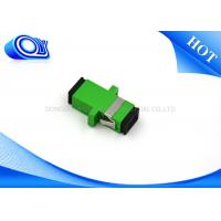 Wholesale Plastic SC APC single mode one piece type fiber optical adapter from china suppliers