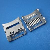 Wholesale micro pcb SD push sim card connector 8pin smt,mini sd card socket from china suppliers