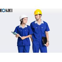 Wholesale Blue Wear Work Trousers Custom Comfortable Work Uniform For Electrician / Worker from china suppliers