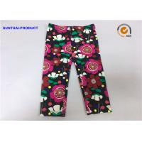 Buy cheap Eco Friendly Kids Printed Leggings , No Side Seam Warm Leggings For Baby Girl from wholesalers