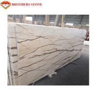 Wholesale Sofitel Gold Beige Marble Slab , Marble Floor Tiles With Smooth Looking from china suppliers