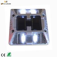 Wholesale Highway Driveway Brightness Aluminum Plate Solar Powered Road Studs Reflective / Cats Eyes Road Markings from china suppliers